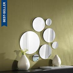 7-Piece Round Mirrors Set