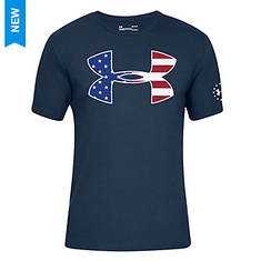 Under Armour Men's Freedom Big Logo Flag Fill SS
