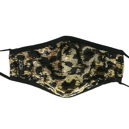 Zigi Soho Leopard Sequins Face Mask with Filters