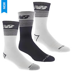 New Balance Men's NB Side Logo Crew 3 Pack Socks