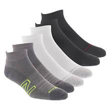 New Balance Men's Quarter N Logo 6-Pack Socks