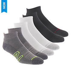 New Balance Men's Quarter N Logo 6 Pack Socks