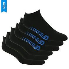 New Balance Men's Low Cut Flying NB 6 Pack Socks
