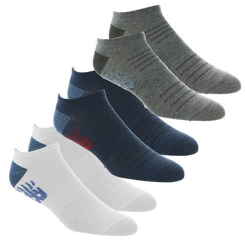 New Balance Men's Flatknit Low Cut Flying NB 6-Pack Socks