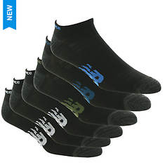 New Balance Men's Flatknit Low Cut Flying NB 6 Pack Socks