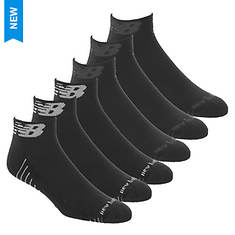 New Balance Men's Quarter NB Side Cuff 6-Pack Socks