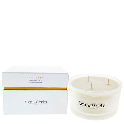 Aroma Works Large 3-Wick Serenity Candle