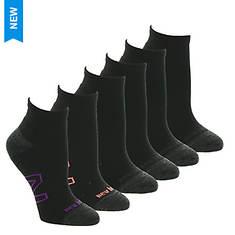 New Balance Women's Quarter N Logo 6 Pack Socks