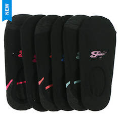 New Balance Women's Liner No Show 6 Pack Socks