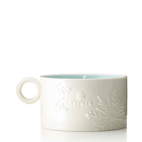 Thymes Hot Cocoa Peppermint Small Poured Mug Candle