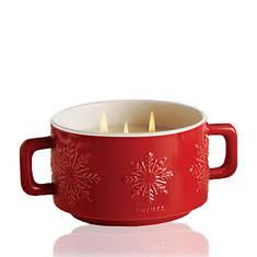Thymes Hot Cocoa Dark Chocolate 3-Wick Mug Candle
