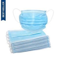3-Ply Disposable Masks - 20 Count