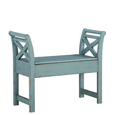 Signature Design by Ashley Heron Ridge Blue Accent Bench