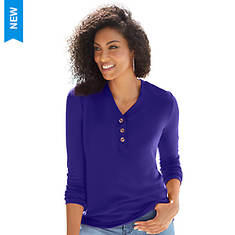 Button-Front Henley
