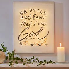 Be Still Lighted Print Decoration