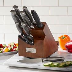 10-Piece Deluxe Swivel Wood Block Knife Set