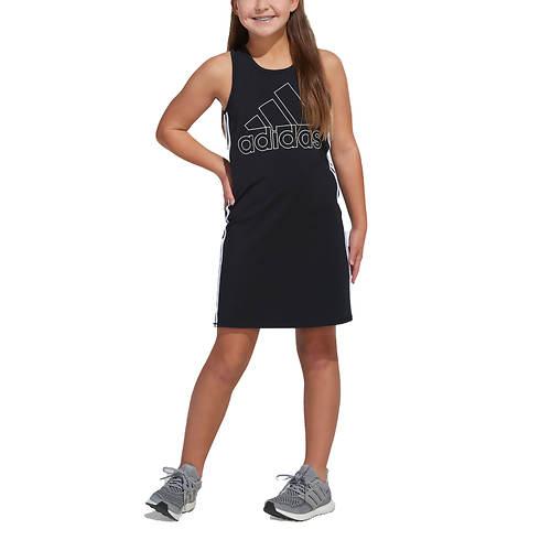 adidas Girls' Stripe Tank 21 Dress