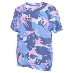 adidas Girls' AOP Cross Over Tee
