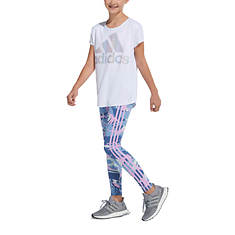 adidas Girls' AOP 3-Stripe Tight