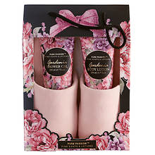 Slippers with Gardenia-Scented Gift Set