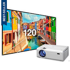 GPX TV Projector With Screen