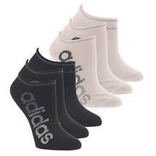 adidas Women's Linear Superlite II 6-Pack No Show Socks