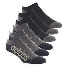 adidas Men's Linear Superlite II 6-Pack No Show Socks