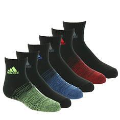 adidas Kids' Superlite Badge of Sport 6-Pack Quarter Socks