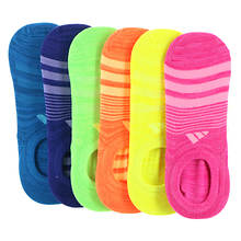 adidas Girls' Superlite 6-Pack Super No Show Socks