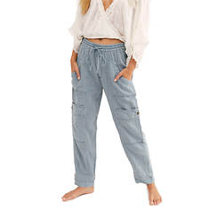Free People Feelin Good Utility Pull On Pant
