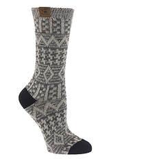 BEARPAW Women's Aztec Jacquard Crew Socks