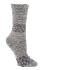 BEARPAW Women's Mixed Texture Color Women's Block Crew Socks