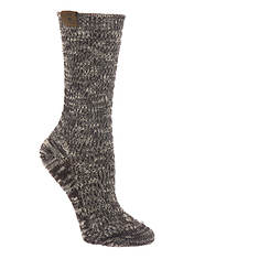 BEARPAW Women's Piazza Slub Pointelle Crew Socks