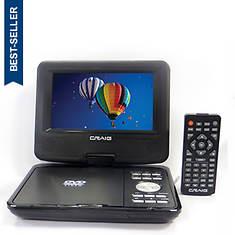 "Craig 7"" Portable DVD/CD Player"