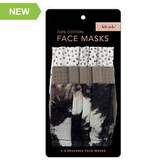 Fashion Cotton Face Mask 3pc