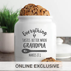 Personalized Everything Tastes Better Cookie Jar