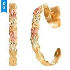 Black Hills Gold 10K Hoop Earrings