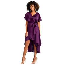Flutter-Sleeved Wrap Dress