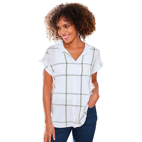 Short-Sleeved Boyfriend Shirt