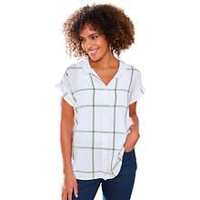 Short-Sleeved Boyfriend Shirt