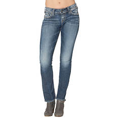 Silver Jeans Women's Suki Mid Rise Straight Leg Jean
