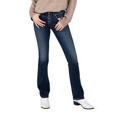 Silver Jeans Women's Suki Mid Rise Slim Bootcut Jean