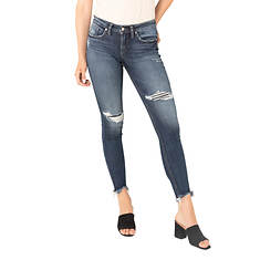 Silver Jeans Women's Suki Mid Rise Skinny Jean