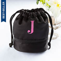Personalized Jewelry Pouch with Embroidered Initial