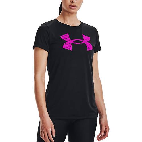 Under Armour Women's Tech Solid Black Short Sleeve Crewneck
