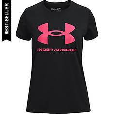 Under Armour Girls' Tech Sportstyle Black Short Sleeve