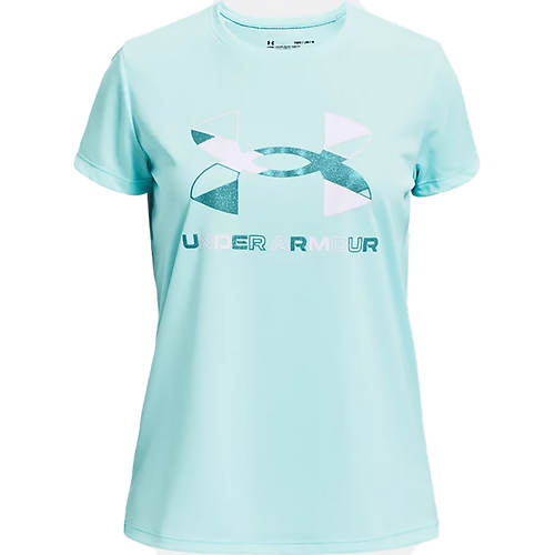 Under Armour Girls' Tech Graphic Big Logo Short Sleeve