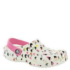 Crocs™ Classic Heart Print Clog (Girls' Infant-Toddler-Youth)