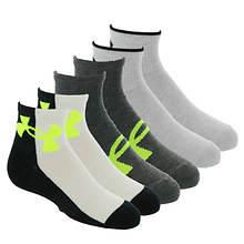 Under Armour Boys' Essential Quarter 6-Pack Socks