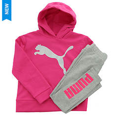 PUMA Girls' Pullover Hoodie and Legging Set